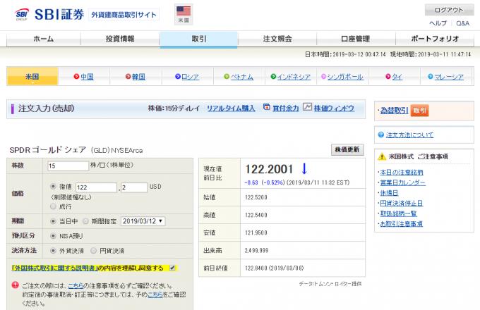 SBI証券、外貨建商品取引サイト、口座サマリー画面