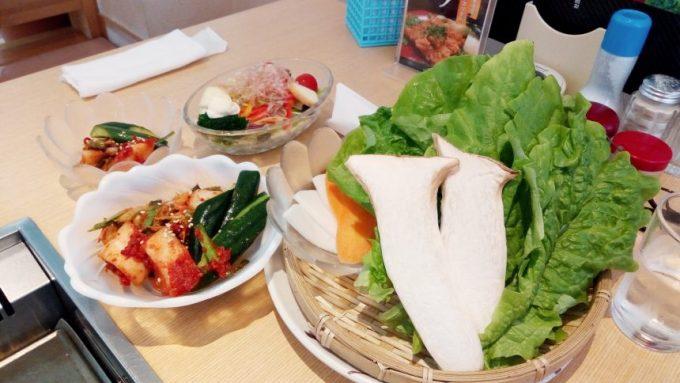宮崎牛ランチについてくる豪華野菜セット