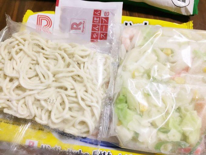 長崎ちゃんぽん冷凍食品の中身