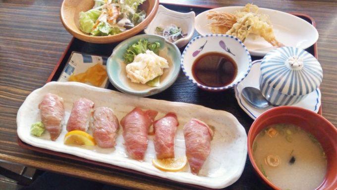 宮崎牛炙り握り寿司定食