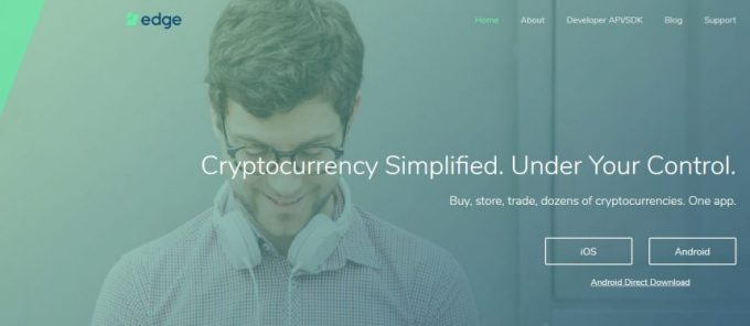 edge wallet ウェブサイトトップページ