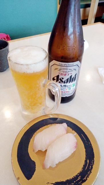 ビールと握り