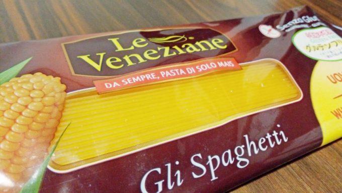 グルテンフリーパスタ「Le Veneziane」パッケージのアップ