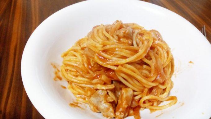 グルテンフリーナポリタンスパゲティ