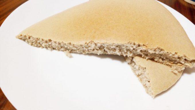 パンケーキの断面図