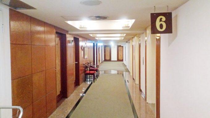 レオフーホテル(六福客棧)の廊下