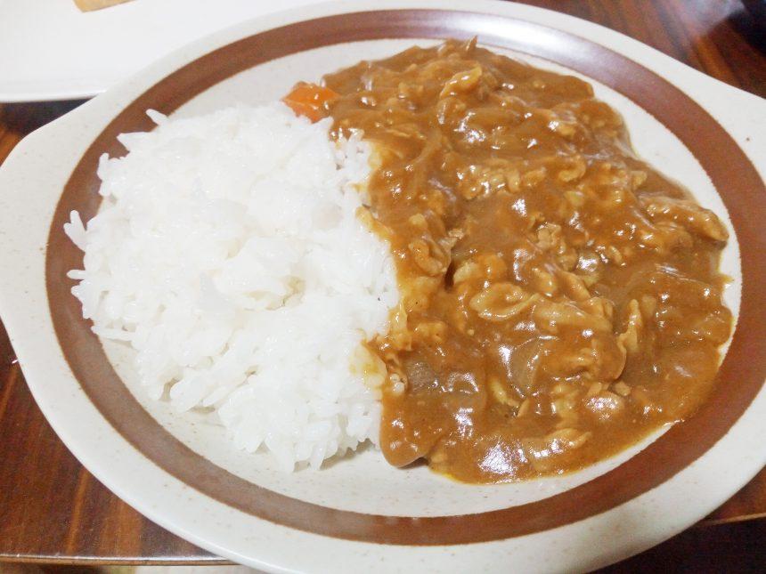 完成した米粉カレー