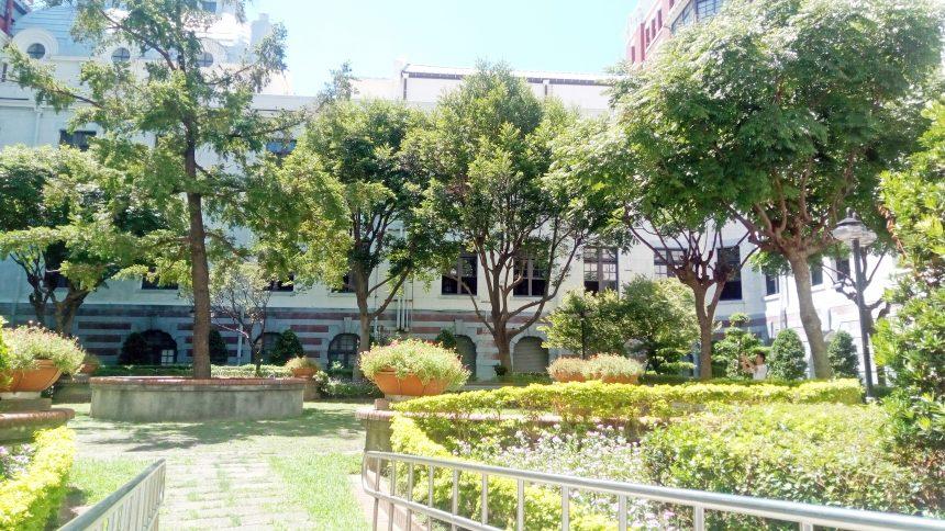 台湾総統府の中庭