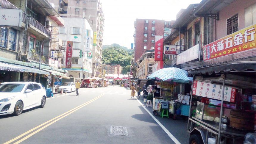 瑞芳駅周辺の街並み