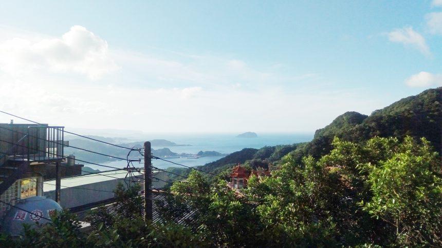 九扮から海を見た景色