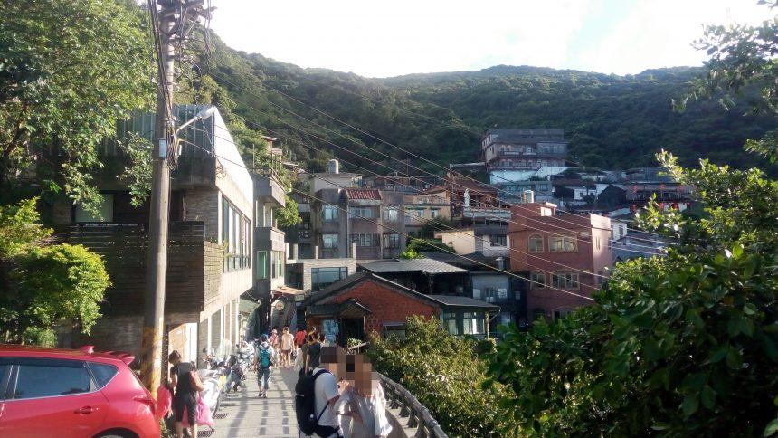 九分の高台から見る住宅街